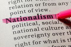 Dictionary definition of the word nationalism. Fake Dictionary, Dictionary definition of the word nationalism . including key descriptive words royalty free stock photos