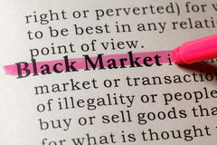 Definition of black market Royalty Free Stock Photography