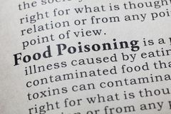 Definition of Food Poisoning Stock Photo