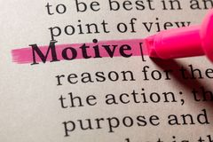 Definition of motive. Fake Dictionary, Dictionary definition of the word motive. including key descriptive words royalty free stock image
