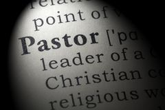 Definition of pastor. Fake Dictionary, Dictionary definition of the word pastor. including key descriptive words royalty free stock images
