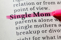 Definition of Single Mom. Fake Dictionary, Dictionary definition of the word Single Mom. including key descriptive words royalty free stock photography