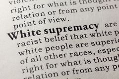 Definition of White supremacy royalty free stock images