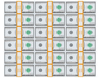 Fake Dollar Bundle Stack Top View Background Stock Photography
