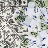 Fake dollars and euros Stock Images