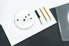 fake eyelashes and glue on ceramic, basic training eyelash extension stock photography