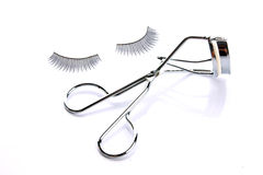Fake false eyelash with curler Stock Image