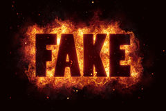 Fake fire text flame flames burn burning hot explosion Royalty Free Stock Image