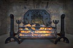 Fake fireplace Royalty Free Stock Photo