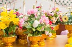 Fake flower in vase Royalty Free Stock Image