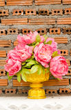 Fake flower in vase Stock Image