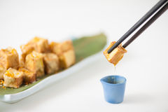 Fake fried tofu Royalty Free Stock Image