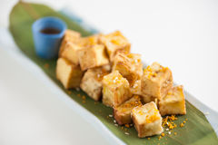 Fake fried tofu Royalty Free Stock Photos