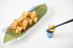 Fake fried tofu Stock Images