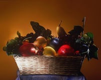 Fake fruit basket Stock Photo