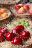 Fake fruits at the market Royalty Free Stock Images