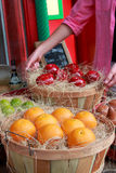 Fake fruits at the stall Royalty Free Stock Photography