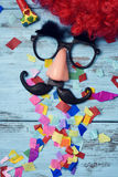 Fake glasses, nose and mustache Royalty Free Stock Images