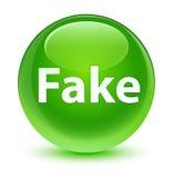 Fake glassy green round button Royalty Free Stock Photo