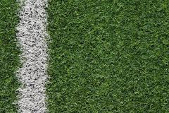 Fake grass soccer field Stock Images