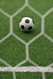 Fake grass soccer field Royalty Free Stock Photo