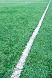 Fake grass soccer field Stock Image