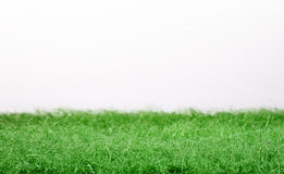 Fake green grass panorama Stock Photography