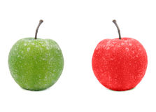 Fake Green and Red Apples Stock Photography