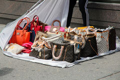 Fake Handbags Royalty Free Stock Photos