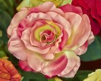 Fake handmade pink rose flower Stock Images