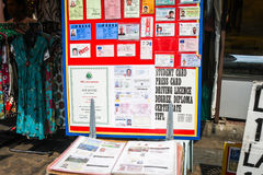 Fake ID and Document Shop, Bangkok Royalty Free Stock Images