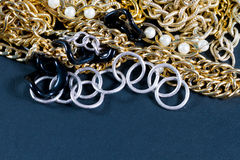 Fake jewellery and chains Royalty Free Stock Photo