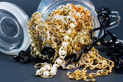 Fake jewellery and chains Royalty Free Stock Images