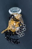 Fake jewellery and chains Royalty Free Stock Image