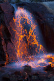 Fake Lava Waterfall Stock Photos