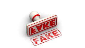fake Le timbre laisse une empreinte illustration libre de droits