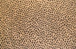 Fake leopard velvet texture background Stock Image