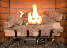 Fake log fire Royalty Free Stock Images