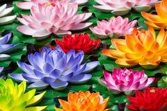Fake Lotus flowers stock photo