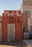 Fake mercantile storefront Stock Photo