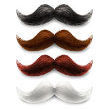 Fake moustaches color set Royalty Free Stock Image