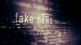 Fake news background. Fake news concept, internet social network Stock Photo