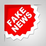 Fake News Badge Means Untrue 3d Illustration Royalty Free Stock Photos