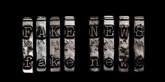 Fake news concept Stock Photography