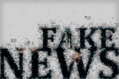 Fake news concept Stock Photos