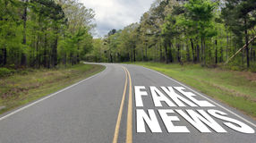Fake News Highway. Royalty Free Stock Images