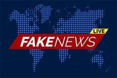 Fake news live. Illustration stock illustration