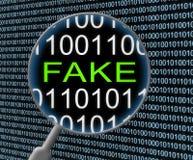 Fake News Magnifier Means Alternative Facts 3d Illustration stock illustration