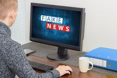 Fake news and misinformation concept. Fake news and misinformation on internet concept Royalty Free Stock Photos