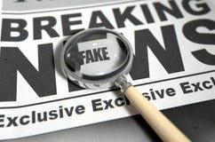 Fake News Newspaper Stock Photo